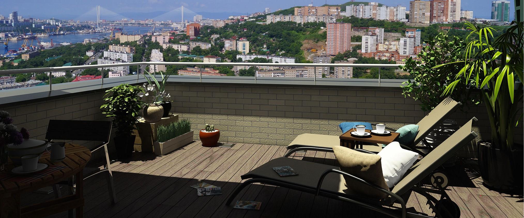 Вид с крыши дома Владивосток-1